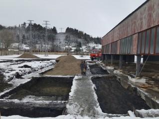 Servis Nelahozeves (Kralupy nad Vltavou) - Základy skladu a nové servisní budovy